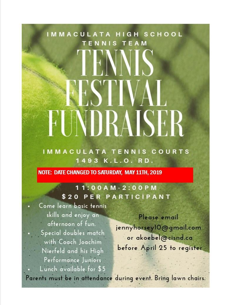 Join us for the Tennis Festival Fundraiser!